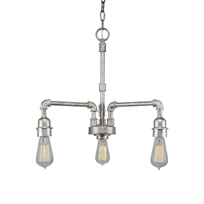 3-Light Sputnik Chandelier Finish: Aged Silver