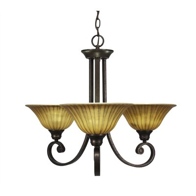 Babin 3-Light Shaded Chandelier