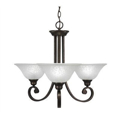 Babin 3-Light Shaded Chandelier Shade Color: White