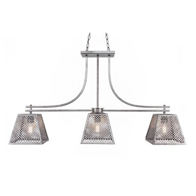 Giusto 3-Light Kitchen Island Pendant Finish: Aged Silver