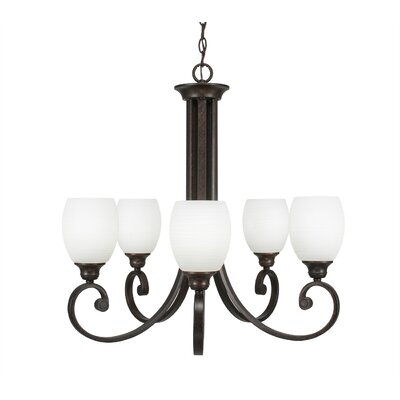 Babin 5-Light Shaded Chandelier Shade Color: White