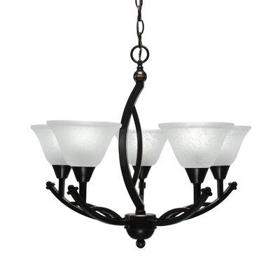 Blankenship 5-Light Shaded Chandelier Shade Color: White