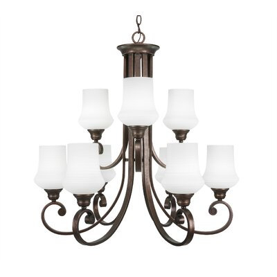 Babin 9-Light Shaded Chandelier Shade Color: Zilo White