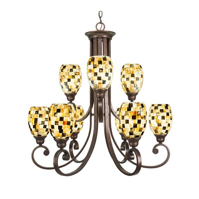 Babin 9-Light Shaded Chandelier Shade Color: Sea Haze