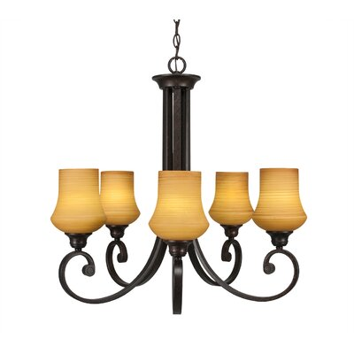 Nussbaum 5-Light Shaded Chandelier Shade Color: Zilo White