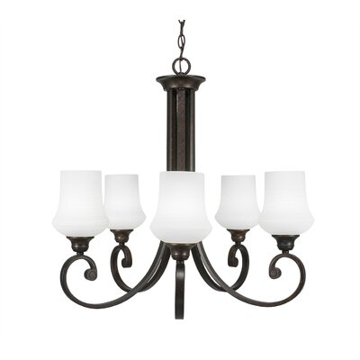 Nussbaum 5-Light Shaded Chandelier Shade Color: Zilo Cayenne