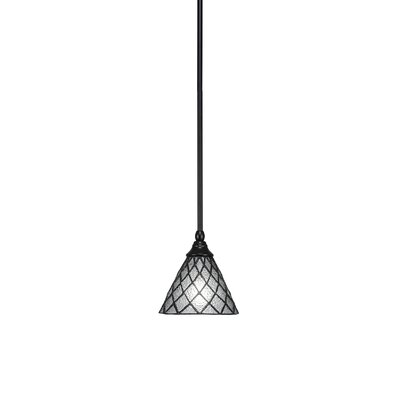 Any Stem 1-Light Mini Pendant Finish: Matte Black