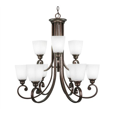 Nussbaum 9-Light Shaded Chandelier