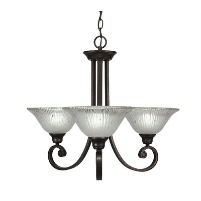 Babin 3-Light Shaded Chandelier Shade Color: Frosted