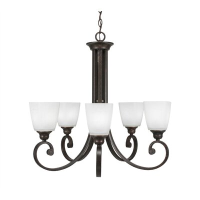Nussbaum Modern 5-Light Shaded Chandelier