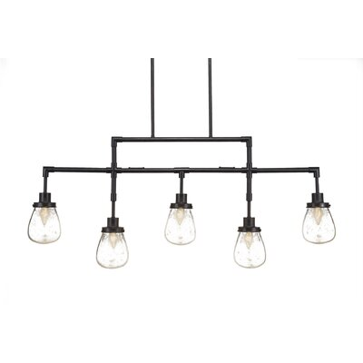 Meridian 5-Light Kitchen Island Pendant Finish: Dark Granite