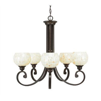 Babin 5-Light Shaded Chandelier Shade Color: Mystic