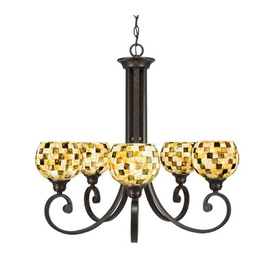 Babin 5-Light Shaded Chandelier Shade Color: Sea Mist