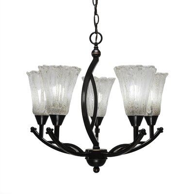 Bow 5-Light Shaded Chandelier Size: 20.25 H x 21.5 W