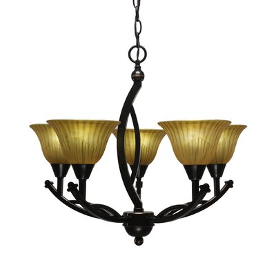 Blankenship 5-Light 60W Shaded Chandelier