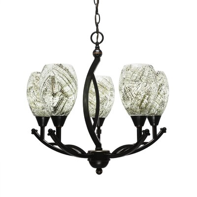 Bow 5-Light Shaded Chandelier Shade Color: Natural