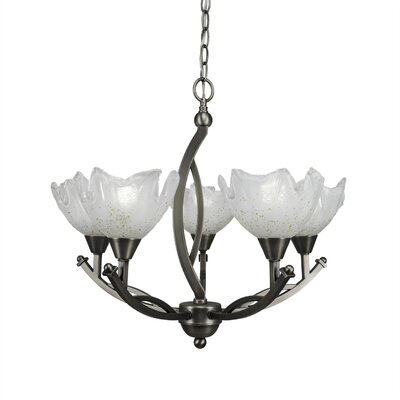 Bow 5-Light Shaded Chandelier