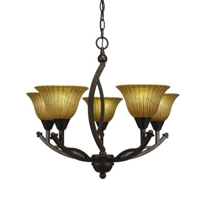 Blankenship 5-Light Dimmable Shaded Chandelier