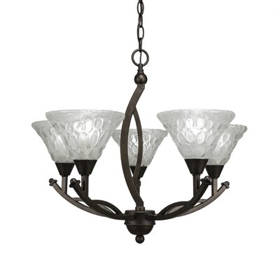 Eisenhauer 5-Light Bronze Shaded Chandelier