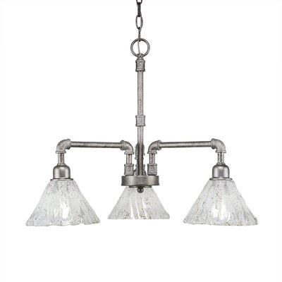 Kash 3-Light Italian Ice Glass Shaded Chandelier