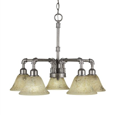 Kash 5-Light Beige Shaded Chandelier