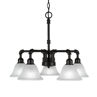 Kash 5-Light Marble Glass Shaded Chandelier