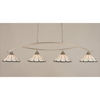 Austinburg 4-Light Downlight Kitchen Island Pendant Finish: Brushed Nickel