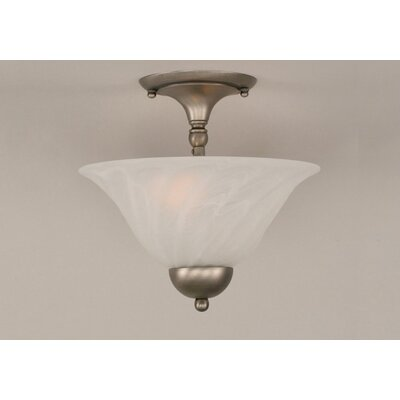 2-Light Semi Flush Mount Finish: Brushed Nickel