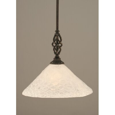 Weathers Mini Pendant With Hang Straight Swivel Shade Color: Italian Bubble Glass, Size: 12 W