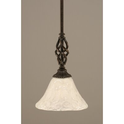 Weathers Mini Pendant With Hang Straight Swivel Shade Color: Italian Bubble Glass, Size: 7 W