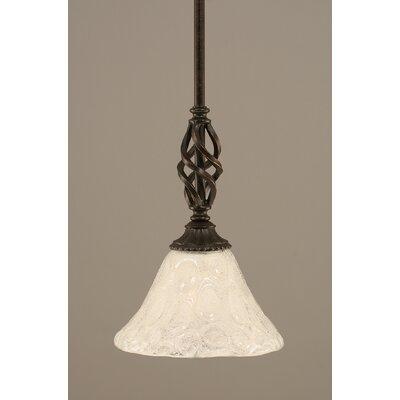 Elegant� Mini Pendant With Hang Straight Swivel Size: 7 W, Shade Color: Italian Bubble Glass