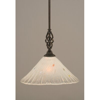 Weathers Mini Pendant With Hang Straight Swivel Shade Color: Frosted Crystal Glass, Size: 12 W