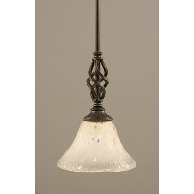 Weathers Mini Pendant With Hang Straight Swivel Shade Color: Frosted Crystal Glass, Size: 7 W