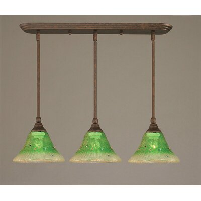 3-Light Multi Light Mini Pendant With Hang Straight Swivels Finish: Bronze