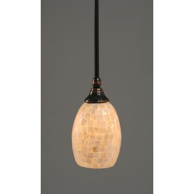 Audry Stem Mini Pendant With Hang Straight Swivel Finish: Black Copper