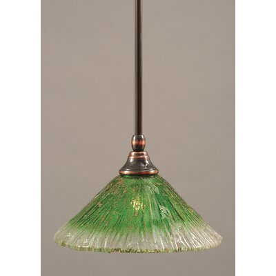 Stem Mini Pendant With Hang Straight Swivel Finish: Black Copper