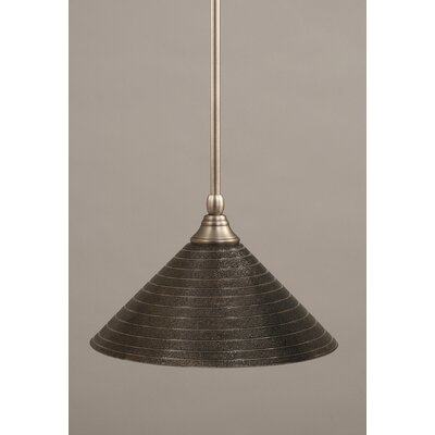 Stem Mini Pendant With Hang Straight Swivel Finish: Brushed Nickel