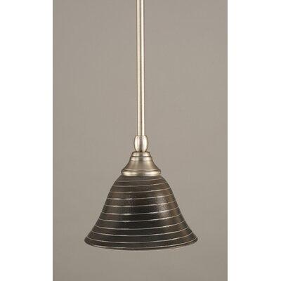 Stem Mini Pendant With Hang Straight Swivel Finish: Brushed Nickel
