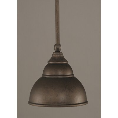Brehmer Stem Mini Pendant With Hang Straight Swivel Finish: Bronze