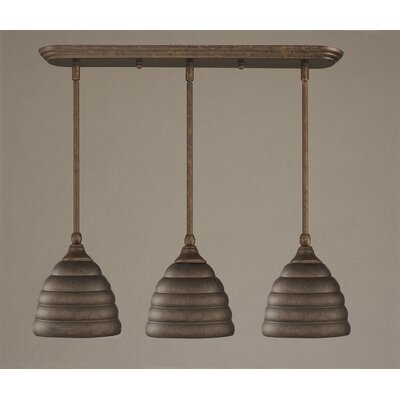 3-Light Multi Light Mini Pendant With Hang Straight Swivels Finish: Brushed Nickel
