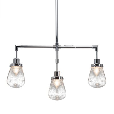 Meridian 3-Light Kitchen Island Pendant Finish: Chrome, Shade Color: White
