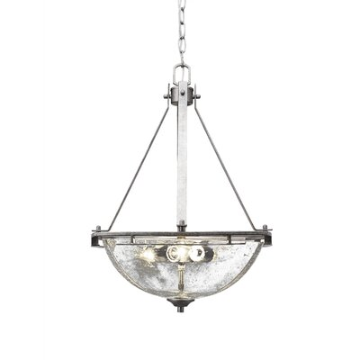 Sinclaire 3-Light Bowl Pendant Shade Color: Clear Bubble Glass