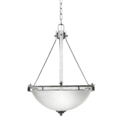 Sinclaire 3-Light Bowl Pendant Shade Color: White Muslin Glass
