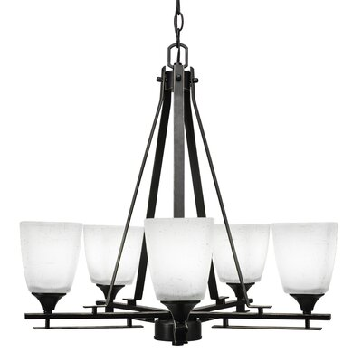 Mindi 5-Light Shaded Chandelier Finish: Dark Granite