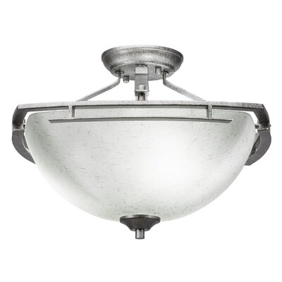 Mindi 3-Light Semi Flush Mount Finish: Aged Silver