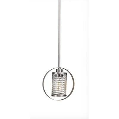 Deshotel 1-Light Mini Pendant Finish: Brushed Nickel