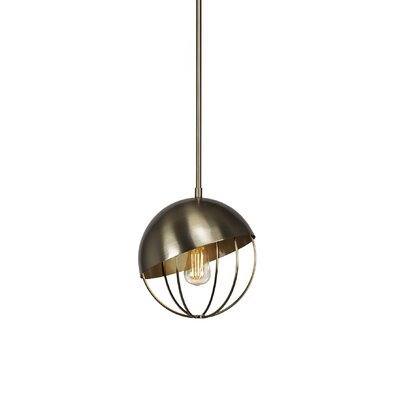 Amend 1-Light Globe Pendant Finish: New Aged Brass