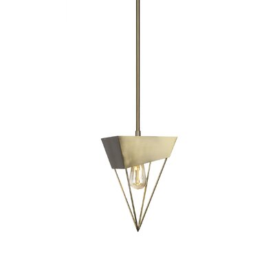 Amend 1-Light Mini Pendant Finish: New Aged Brass