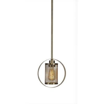 Deshotel 1-Light Mini Pendant Finish: New Aged Brass