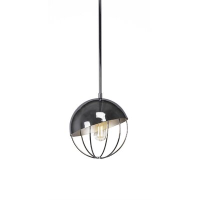 Amend 1-Light Globe Pendant Finish: Chrome